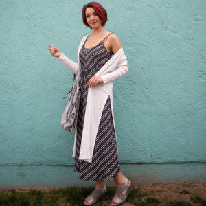 Striped Cami Midi Dress