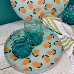 Round Enamel Lemon Trays