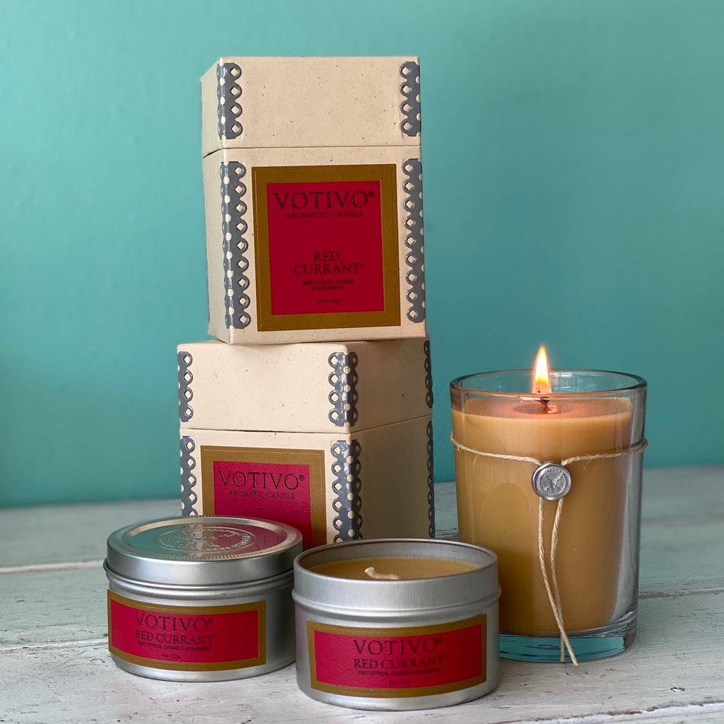 Votivo Candle and Tin - Red Currant
