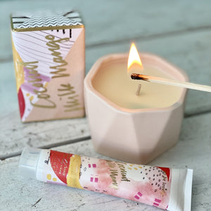 Coconut Milk Mango Ceramic Candle