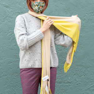 Milk Muffler Bi-Color Scarves