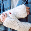 Herringbone Fingerless Gloves