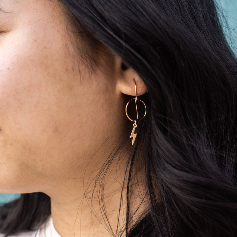 Bolt Earring in Gold