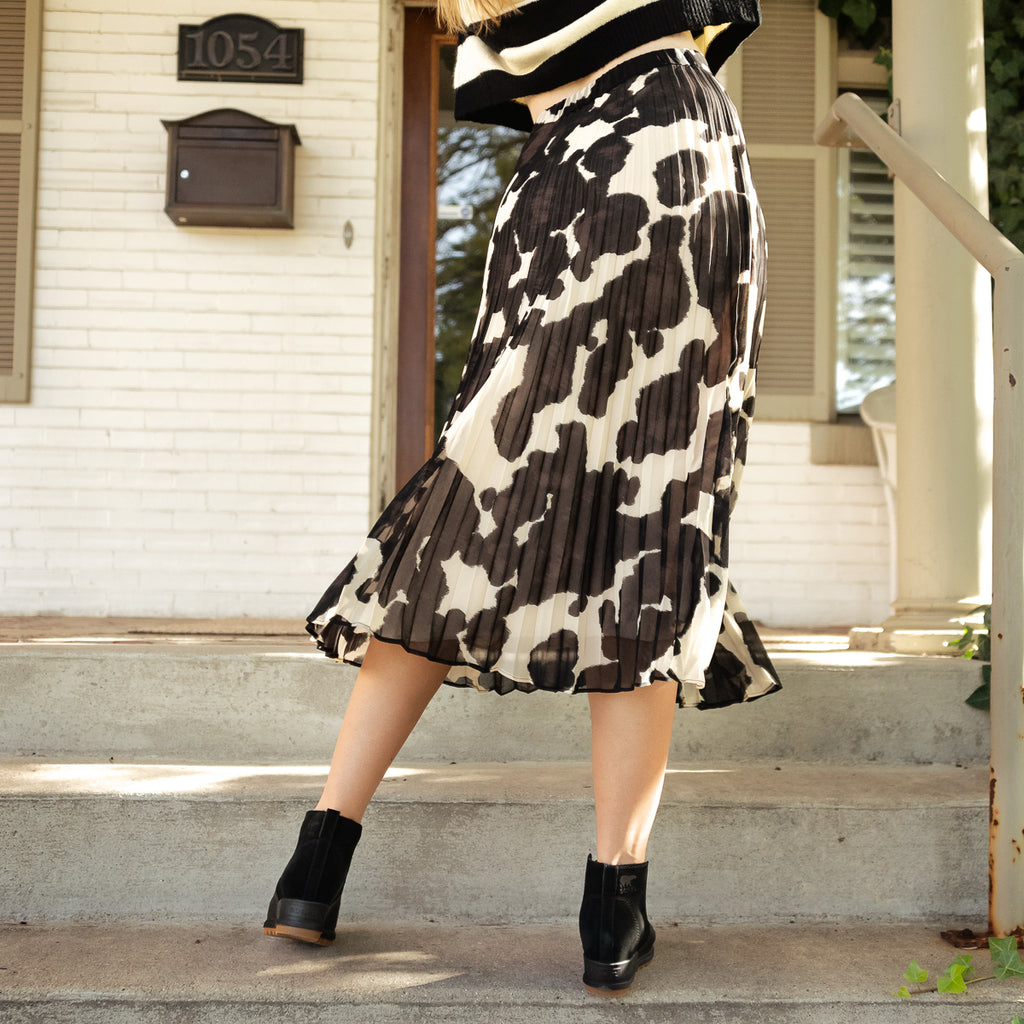 Pony Pleat Midi Skirt