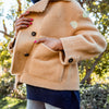 Gold Sherpa-lined Coat