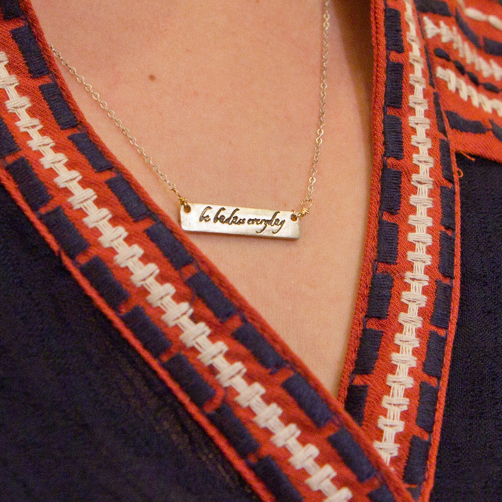 """Be Badass Every Day"" Necklace"
