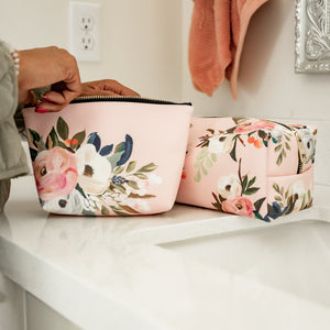 Floral Cosmetic Bag Set