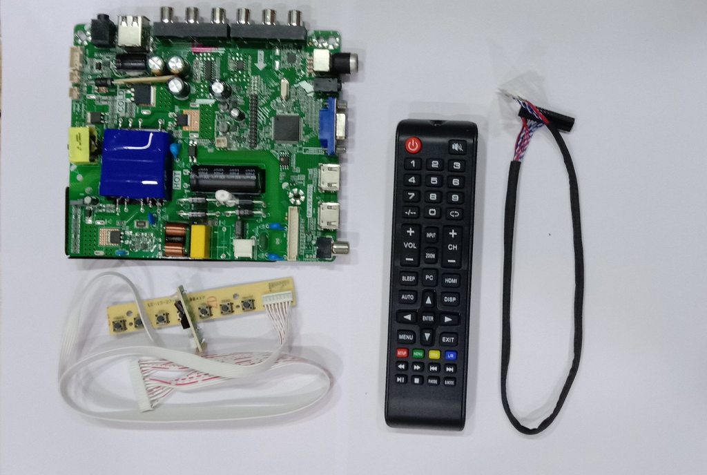 LCD/LED TV BOARD 32 to 45 Inch TP.V56.PB801 Combo Board With Remote