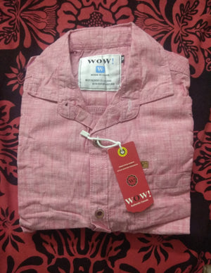 Gents / Boys Branded Casual Cotton Pink Self Designed