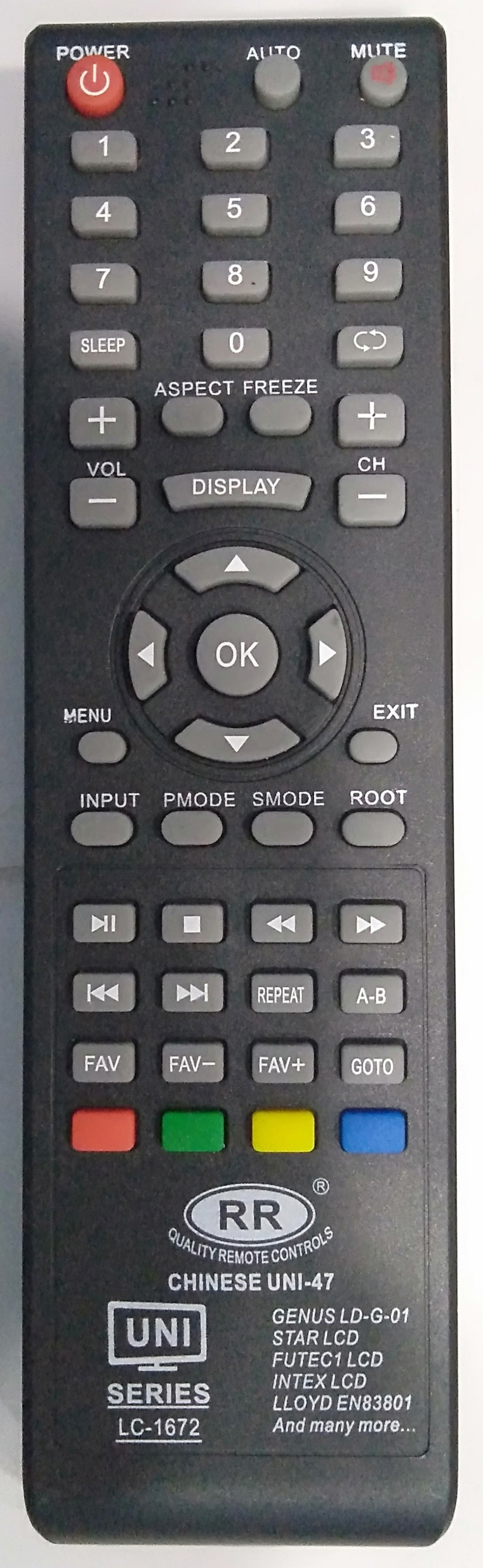 LLYOD  LCD TV  Universal Remote Controller  LD 42