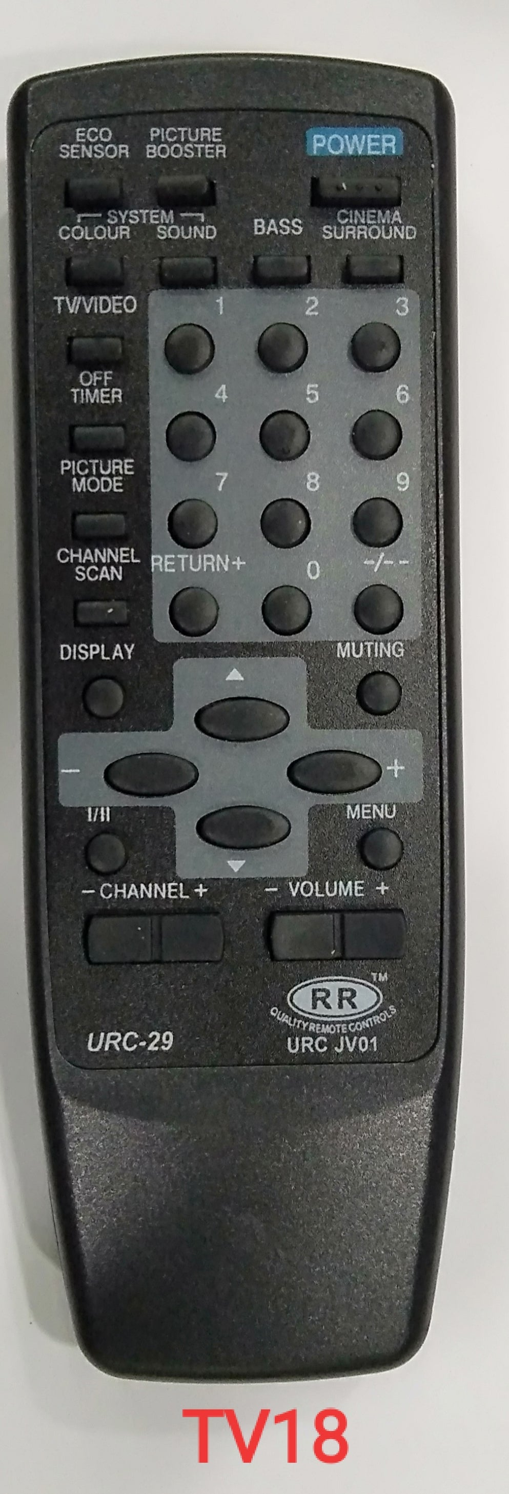 JVC Universal TV remote controller 29 (TV18)
