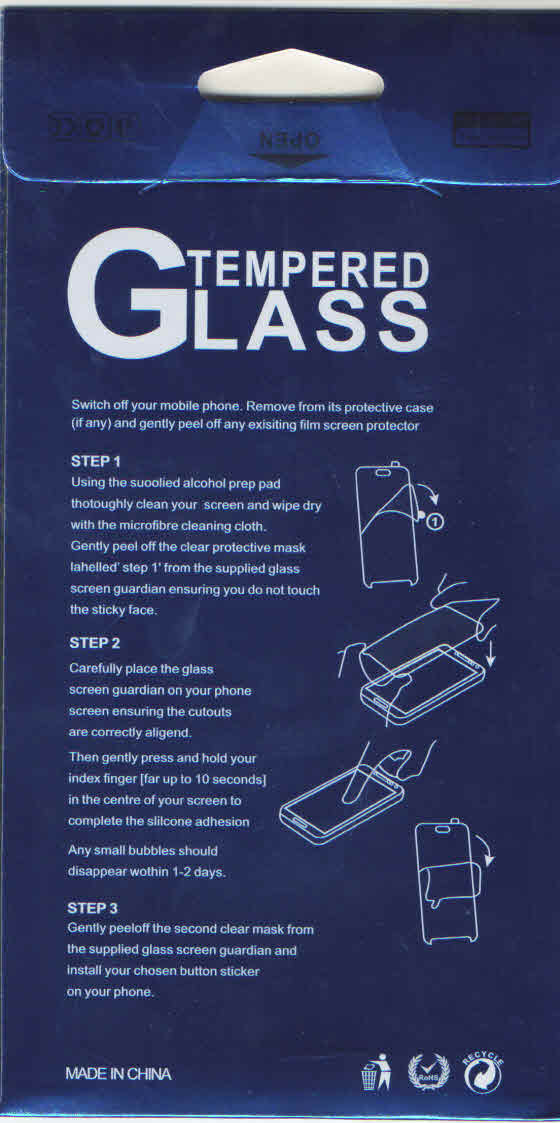 Oppo F3 Premium Tempered Glass