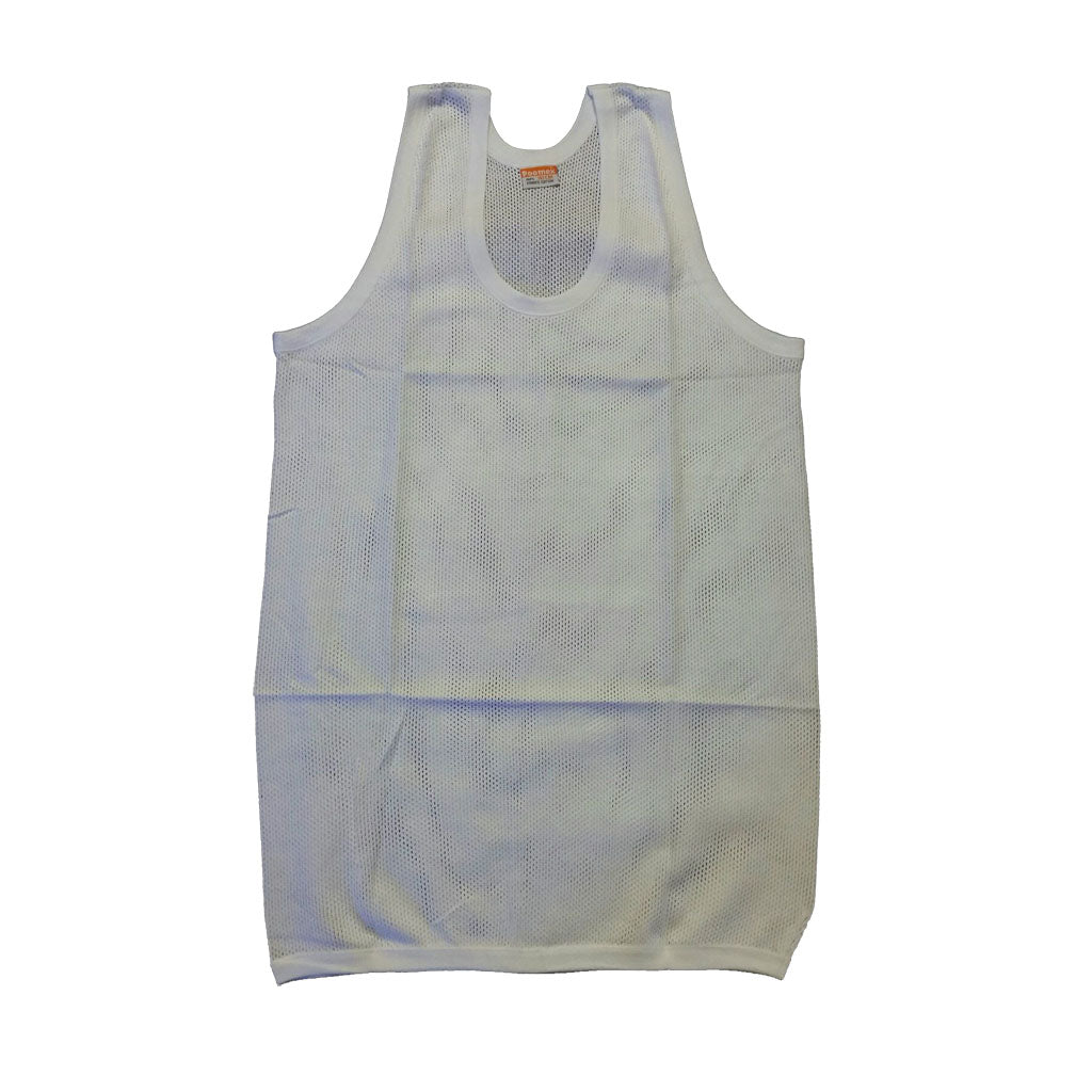 Poomex Gents White Menscool (Dotted Net Type) Sleeveless and Halfsleeve