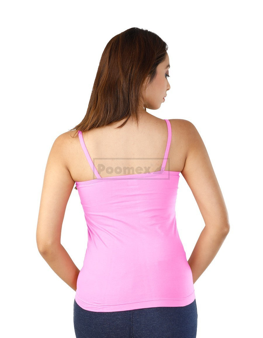 Poomex Comfed Cotton Ladies Slip Comisole Pink, Maroon, Lotus, Coral, Lavendar Colours