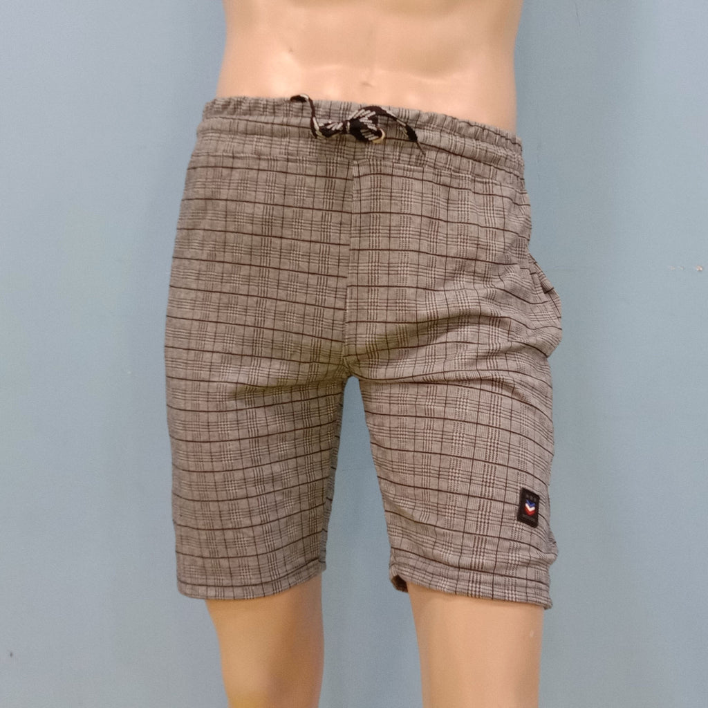 Small Checker Design Shorts for Men