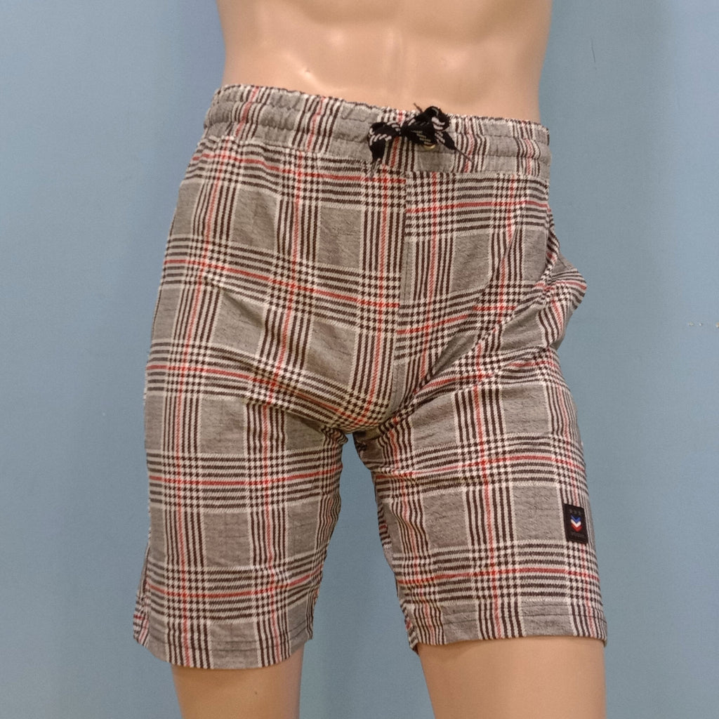Big Checker Design Shorts for Men
