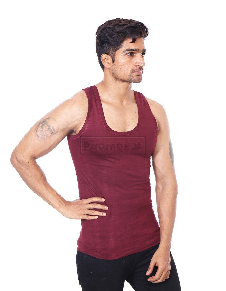 Poomex Gents Golden Colour Vest (Sleeveless & Half Sleeve)