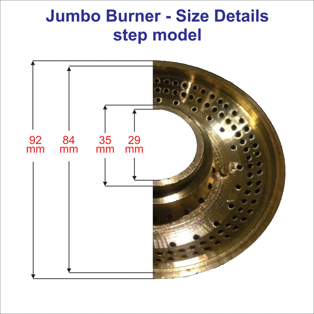 1 No. Jumbo Size Gas Stove Brass Burner suitable for all kind of Gas stove