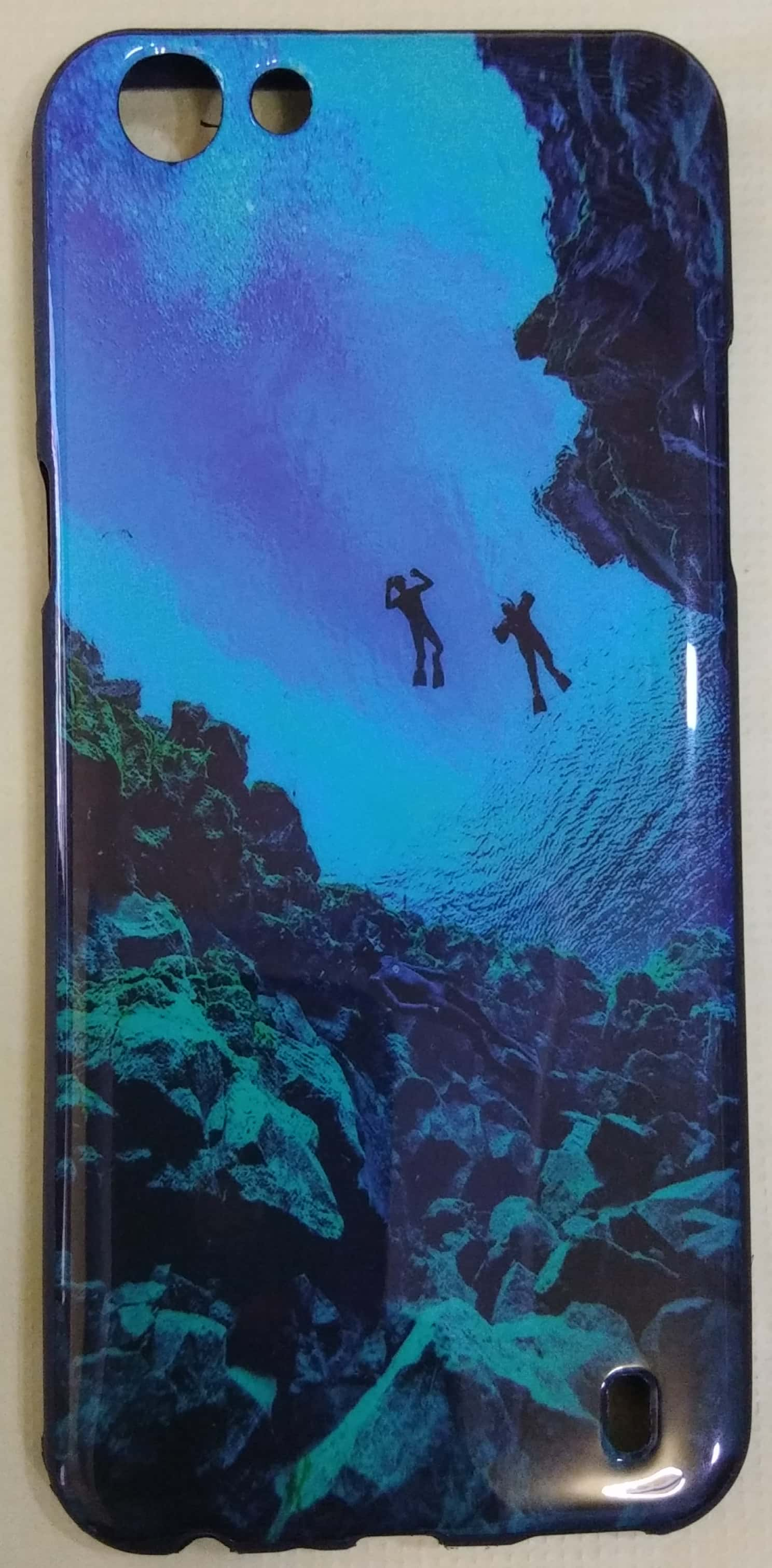 Oppo F3 Multi Colour Back Cover