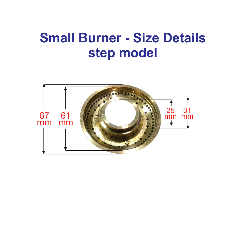 2 nos gas stove burner (Medium & Big) for glass top  Gas stove