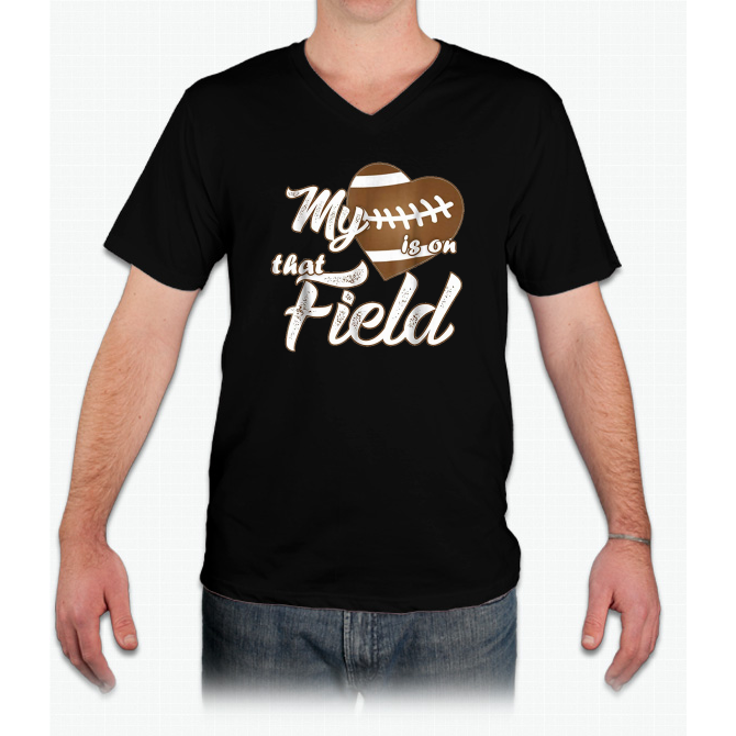 Check Out This Awesome My Heart Is On That Football Field Cute S T Shirt