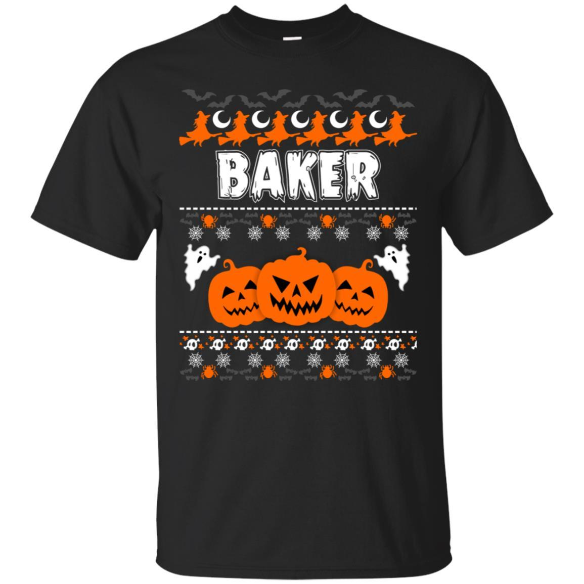 Shop Baker Ugly Halloween Funny And Scary T Shirt