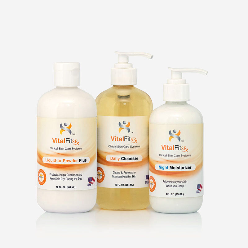 VF-AMP: 3 Piece VitalKit™ Skin Care System - Liquid Powder Plus </p>(for Limb Loss)