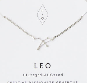 Zodiac Constellation Necklace- Rose Gold