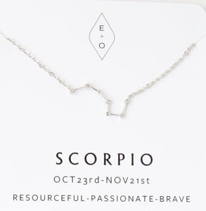 Zodiac Constellation Necklace- Gold