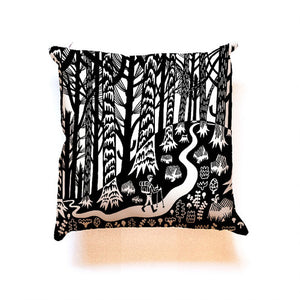 Forest And Waves pillow