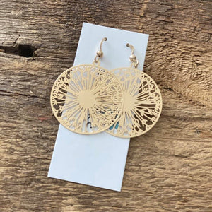 Gold Dandelion Earrings