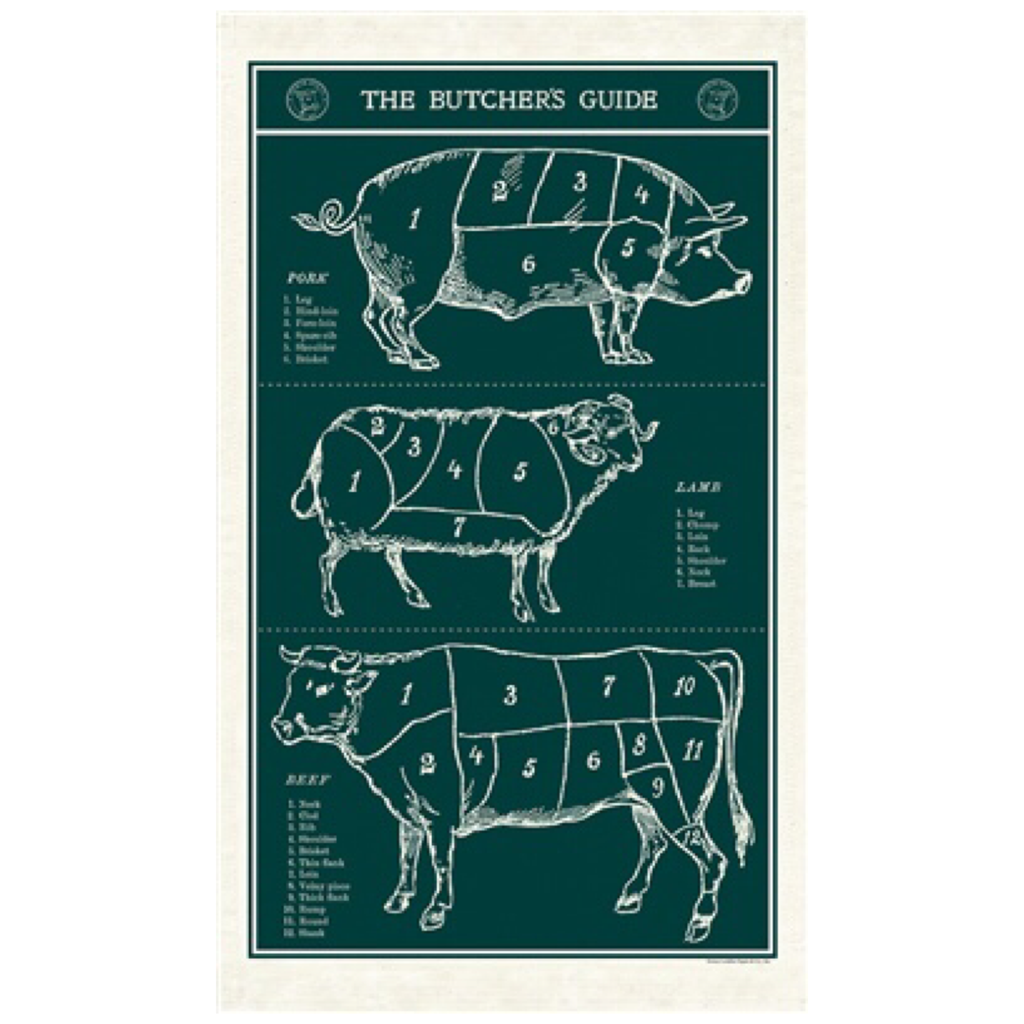 Butcher's Guide Tea Towel