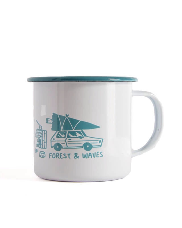 Forest And Waves mugs