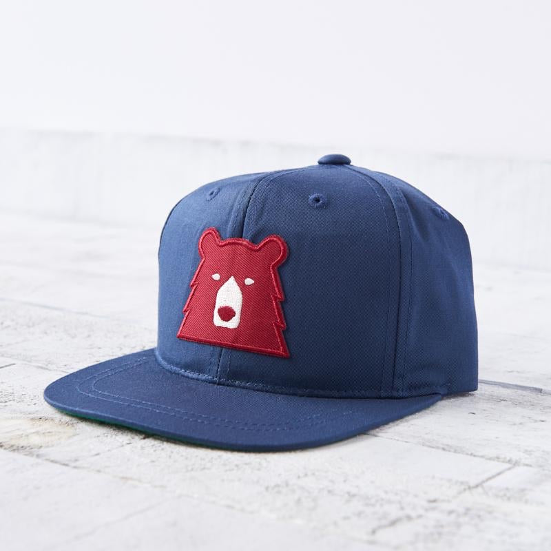 North Standard Youth Navy/Red Bear Hat