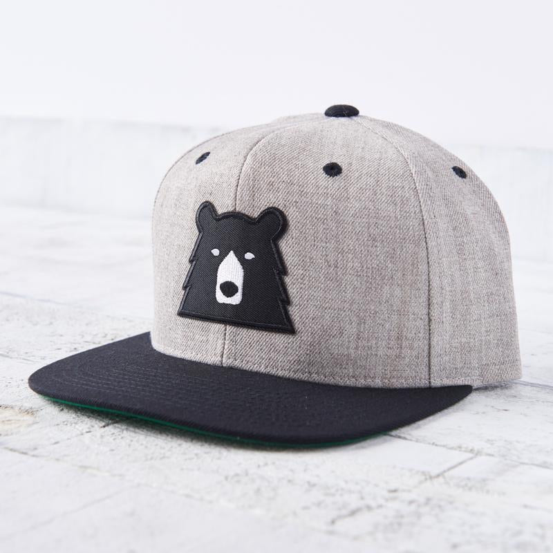 North Standard Grey/Black Brim and Bear Hat