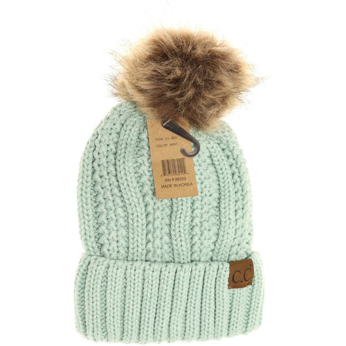 Fuzzy Lined Toque- Mint