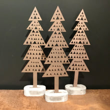 Load image into Gallery viewer, Wooden Trees- Triangle