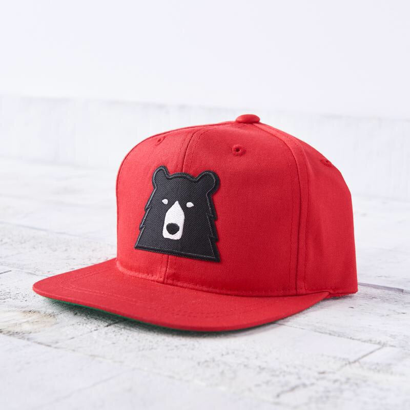 North Standard Youth Red/Black Bear Hat