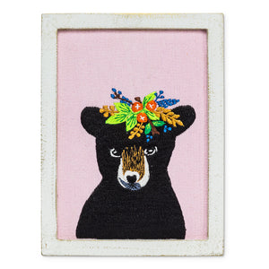 Bear Embroidered Art