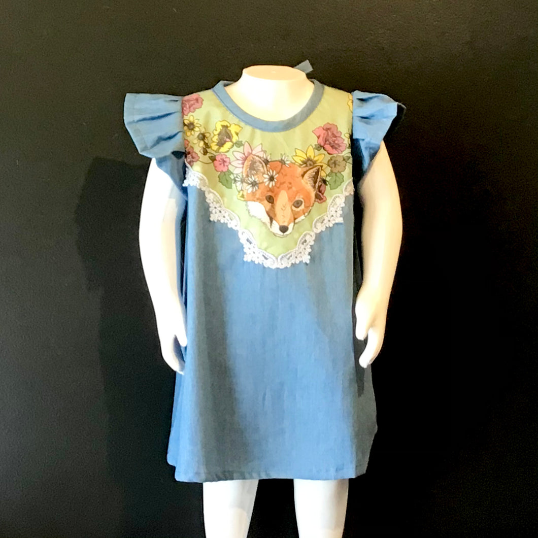 Denim Fox Dress
