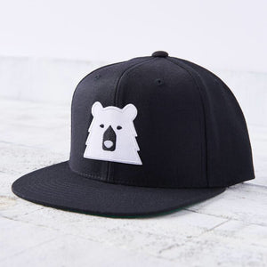 North Standard Black/White Bear Hat