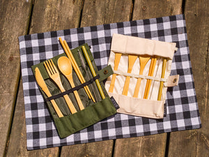 Bamboo Travel Cutlery- Green