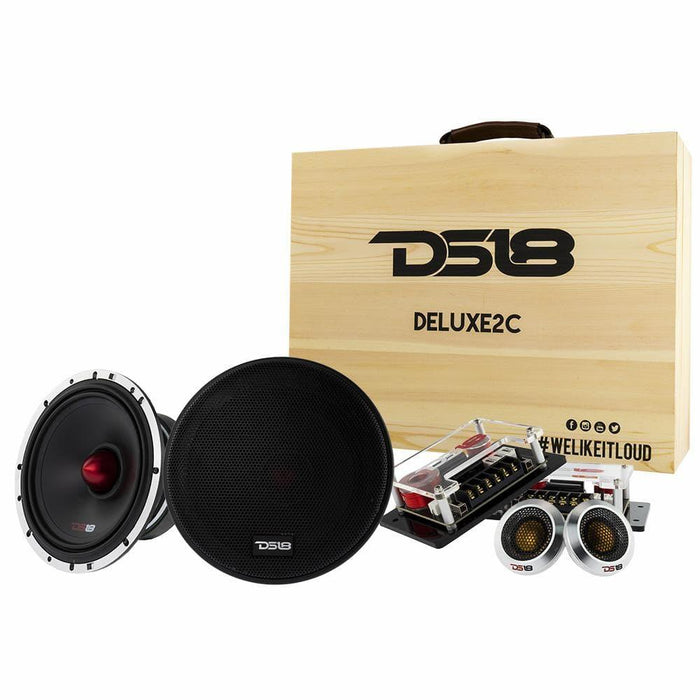 "DS18 DELUXE2C 6.5"" 2-WAY SQ COMPONENT SYSTEM 500 WATTS"