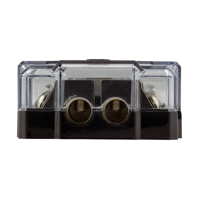 DS18 FDG1224AFS-80A ANL FUSE HOLDER AND DISTRIBUTION BLOCK 0GA IN - 2x4GA OUT WITH VOLTMETER