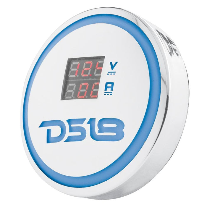 DS18 BADGE WITH RGB LIGHTS AND VOLT/CURRENT METER