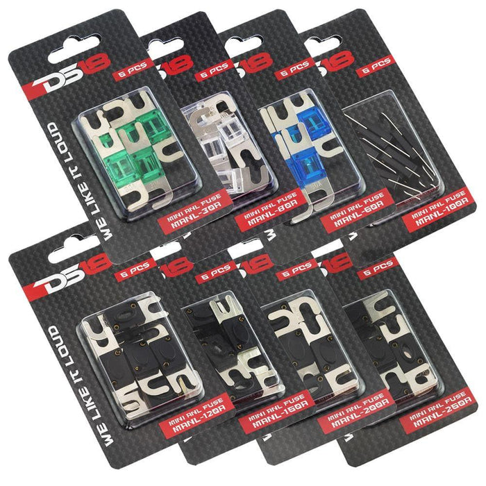 DS18 MANL AFS MINI ANL FUSES AVAILABLE IN 30A, 60A, 80A , 100A, 150A, 200A, 250A - PACK OF 5