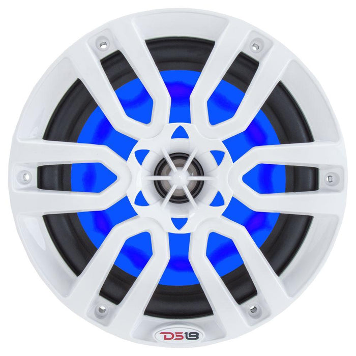 "HYDRO 6.5"" 2-WAY MARINE SPEAKERS WITH INTEGRATED RGB LED LIGHTS 300 WATTS (PAIR)"