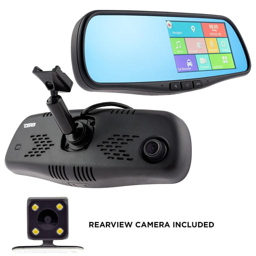 "REARVIEW SMART MIRROR WITH 4.3"" HD LCD TOUCH SCREEN WITH ANDROID 1080P DASH CAM RECORDER, SPECIAL MOUNT"