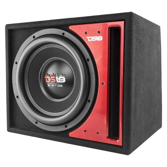 "DS18 Z-VX 12"" SINGLE BASS SUBWOOFER 1450W 4-OHM DVC IN PORTED MDF BOX"