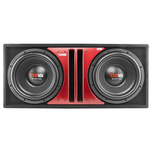 "DS18 Z-VX 12"" DUAL BASS SUBWOOFER 2900W 4-OHM DVC IN PORTED MDF BOX"